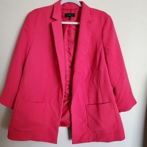 Talbots hot pink open front blazer